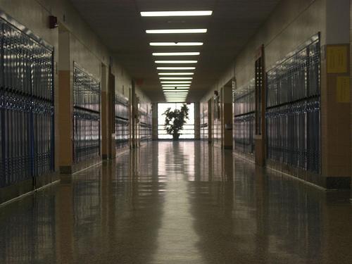 A hallway in Horseheads High School